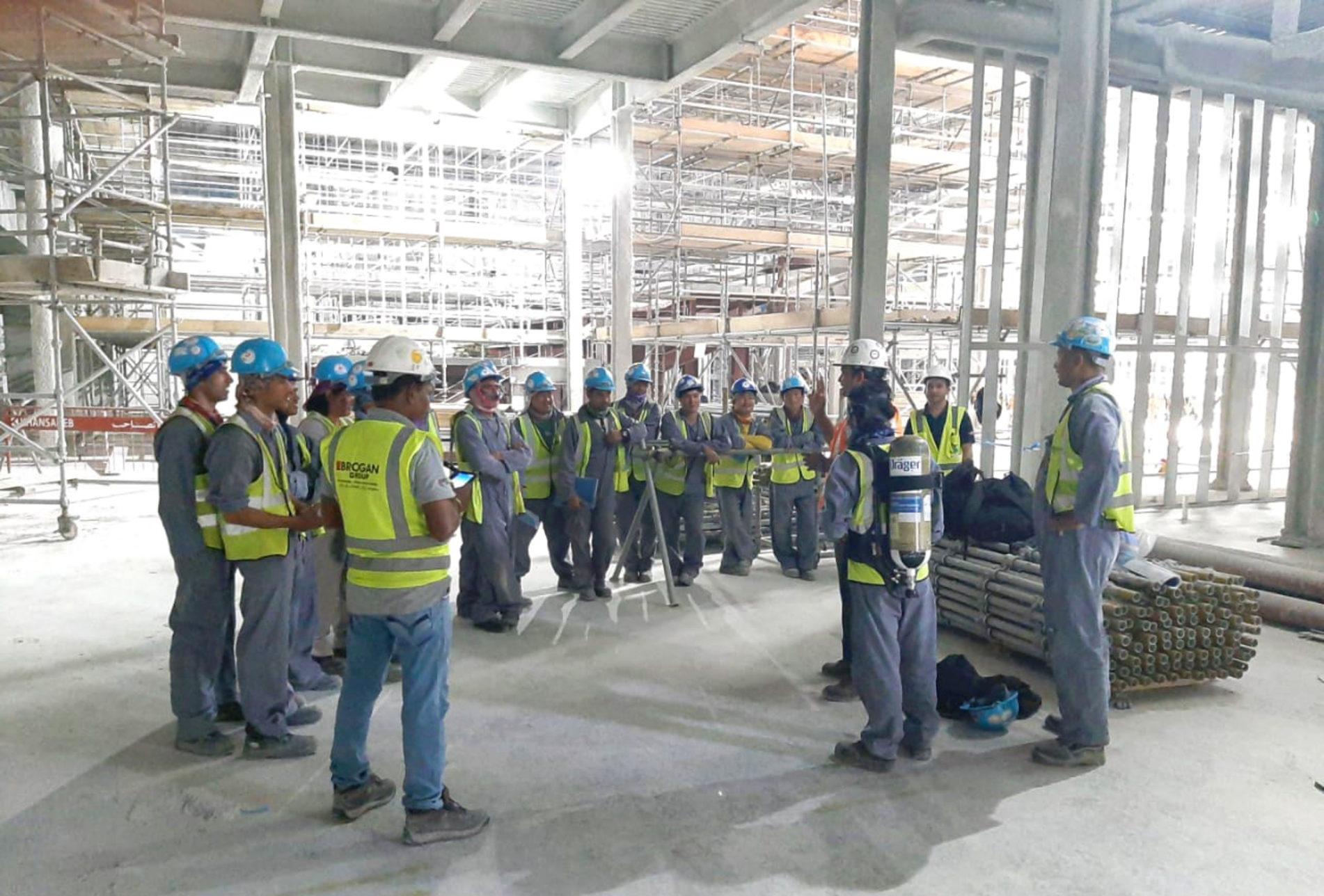 Further training for Brogan scaffolders in Dubai | 18th June